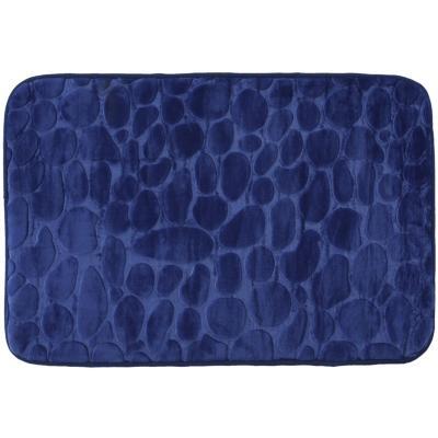 Alfombra de baño 45x70 cm azul piedra