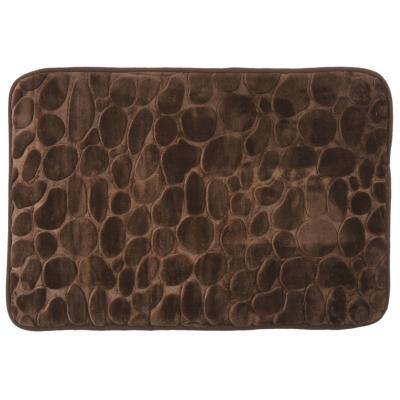 Alfombra de baño 45x70 cm marrón piedra