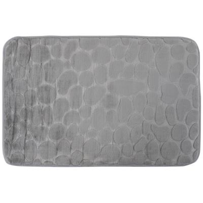 Alfombra de baño 45x70 cm gris piedra