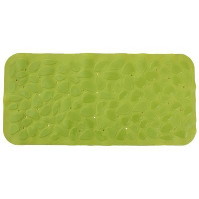 Alfombra de baño PVC 75x36 cm verde bañera piedras