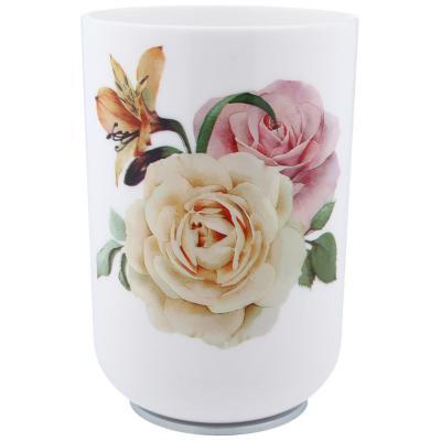 Vaso para enjuague bucal diseño rosas