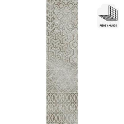 Porcelanato 15x60 gris mate 1,08 m2