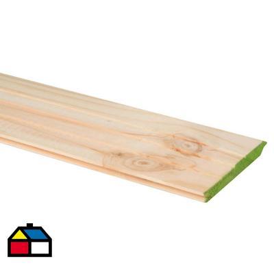 3/4 x 5 x 3,20 m pino seco Machihembrado
