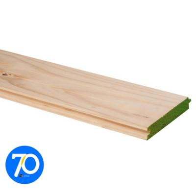 1 x 5 x 3,20 m Piso pino seco Machihembrado