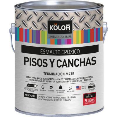 Esmalte epoxico para pisos y canchas pastel 1 galón