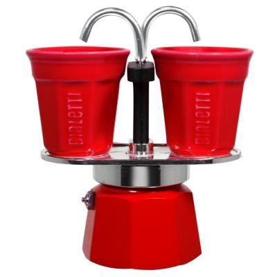 Set mini express 2 tazas roja + 2 vasos