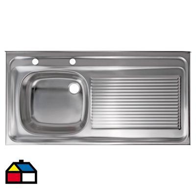 Lavaplatos 100x50x15,5 cm acero inoxidable