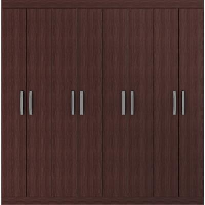 Closet  8 puertas caoba