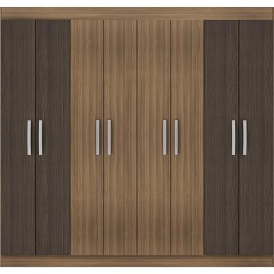 Closet 8 puertas bicolor