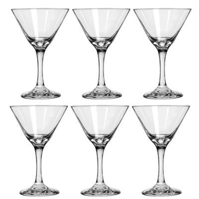 Set 6 copas martini vidrio