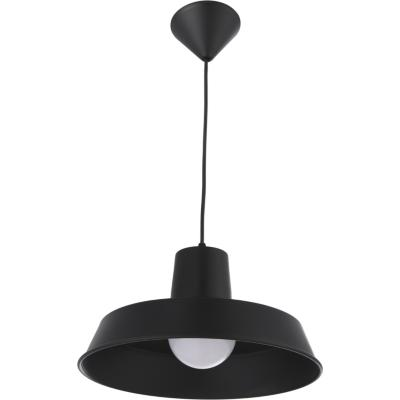 Lámpara de colgar Metal Plato Negro