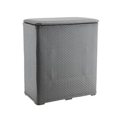 Cesto para ropa 48x27x55 cm gris