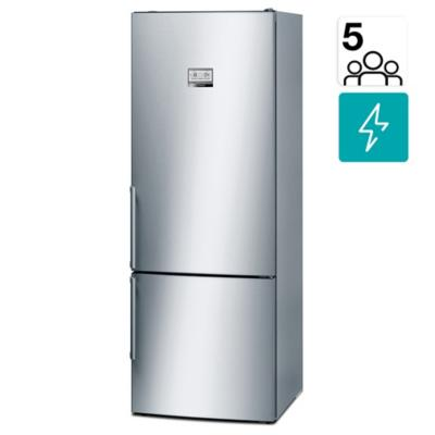 Refrigerador no frost bottom freezer 505 litros inox