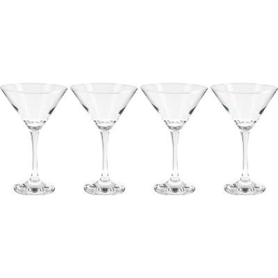 Set 4 copas martini and/black