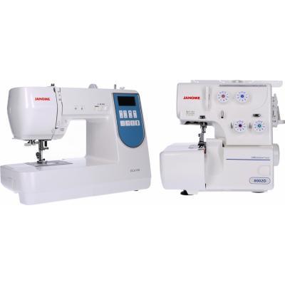 Combo máquina de coser + overlock