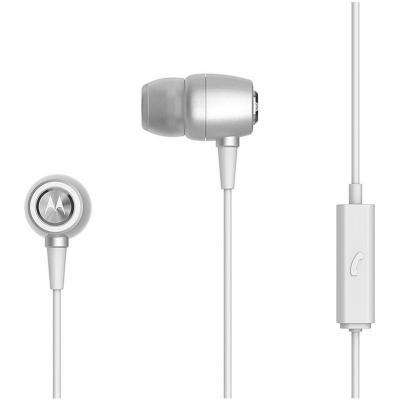 Audífono earbuds manos libres metal plata