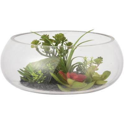 Terrario artificial base vidrio 25x11 cm