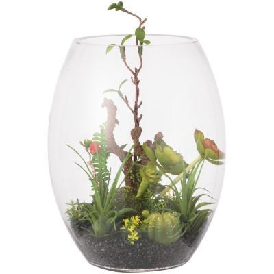Terrario artificial vidrio cilindro 29 cm