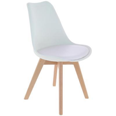 Silla polipropileno 65x55x54 cm blanca con asiento blanco