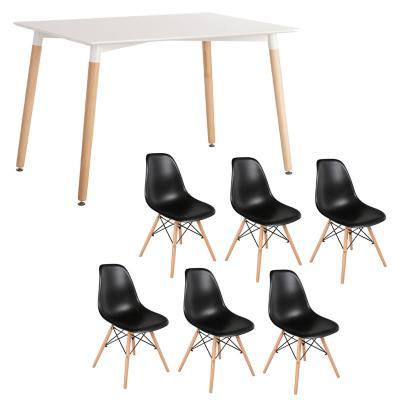 Combo Mesa Comedor + 6 sillas negro