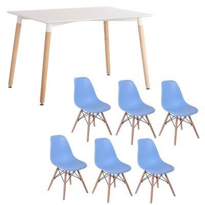 Combo Mesa Comedor + 6 sillas turqu