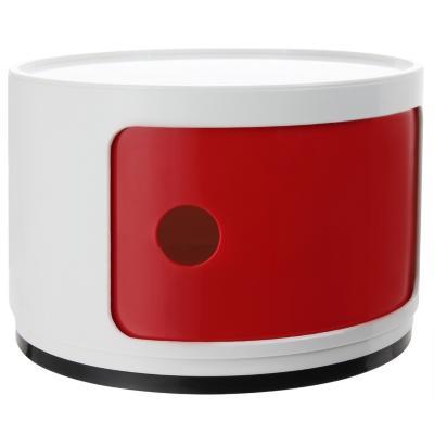 Organizador bicolor 1 cuerpo 33x33x24 cm blanco puerta roja