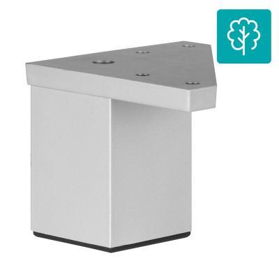 Pata cuadrada abs aluminio mate 40x60 mm