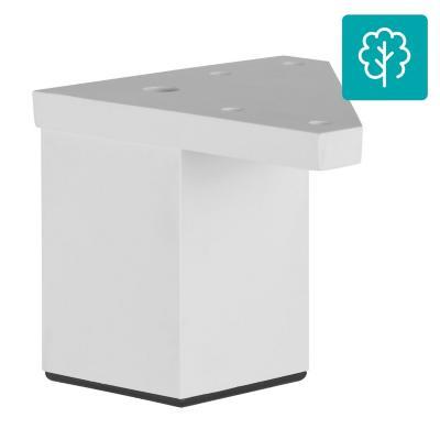 Pata cuadrada abs blanco 40x60 mm