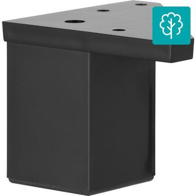 Pata cuadrada abs negro 40x60 mm