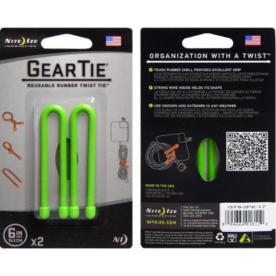 "Sistema de amarra cables gear tie 3"" color verde"