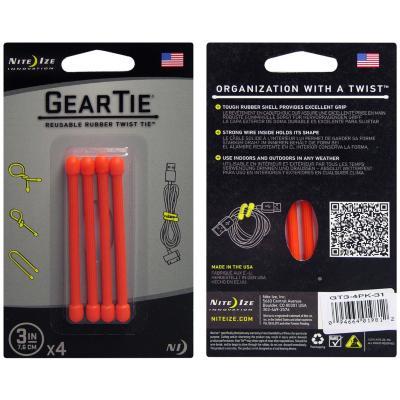 """Sistema de amarra cables gear tie3"""" color Naranjo"""