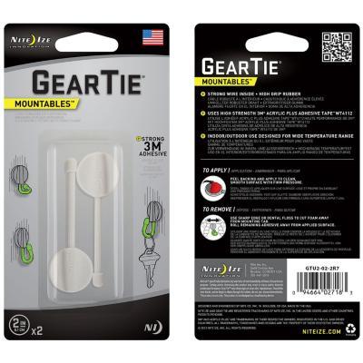 """Gear tie 2"""" negro, con sitema 3m para organizar cables"""