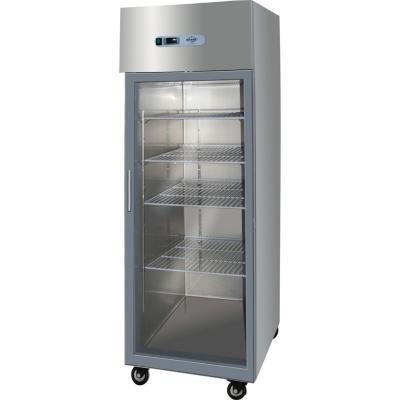 Refrigerador industrial 1 puerta vidrio 500 litros inox