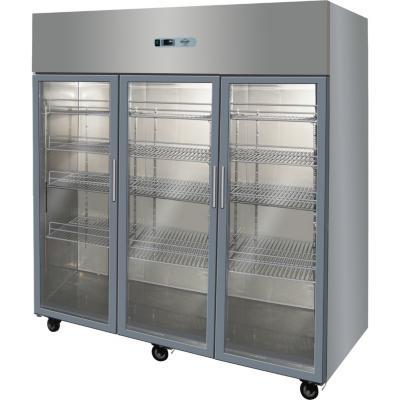 Refrigerador industrial 3 puertas vidrio 1.500 litros inox