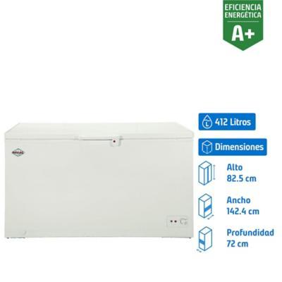Congelador industrial horizontal 412 litros blanco