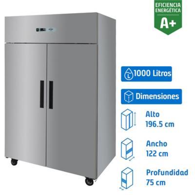 Refrigerador industrial 2 puertas 1.000 litros inox