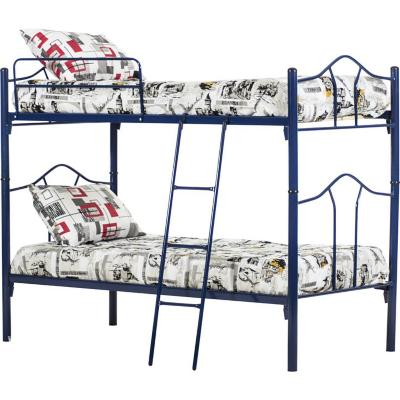 Camarote metal 1 plaza + colchón + textil Monte azul