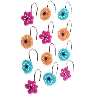 Set 12 ganchos flores color