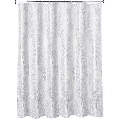 Cortina de baño rama plata 178x180 cm