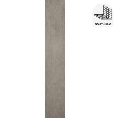 Porcelanato 15x90 plateado 1,62 m2