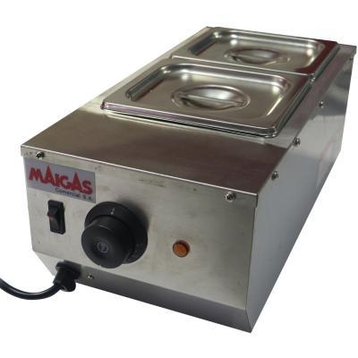 Máquina chocolatera industrial 2 depósitos 1,5 litros gris