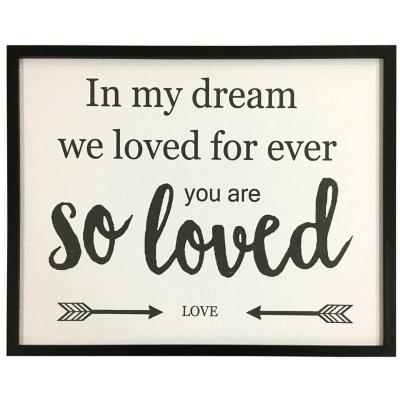 Cuadro frase Loved 42x52 cm