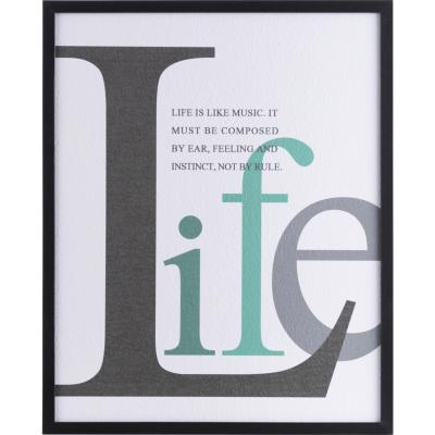 Cuadro frase Life 42x52 cm