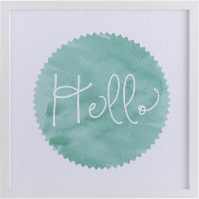 Cuadro frase Hello 32x32 cm