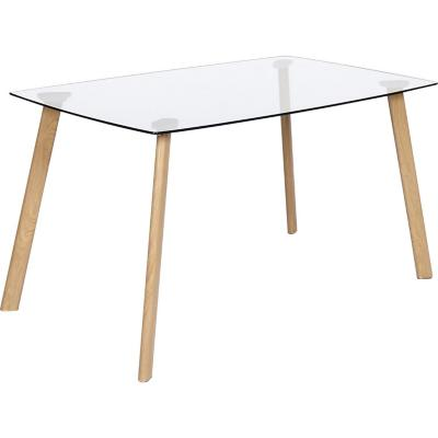 Mesa de comedor rectangular 140x80 cm