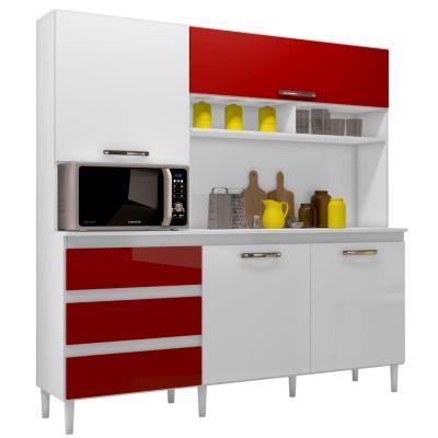 Modular de cocina florencia 1.98x1.82x0.48 cm rojo