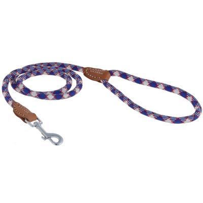 Correa para perros de nylon redondo azul talla M