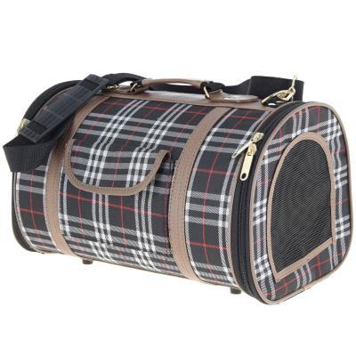Bolso para transportar mascotas escocés negro talla S