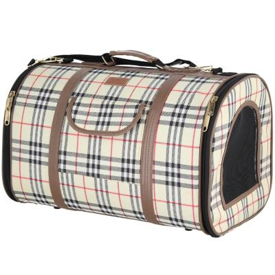 Bolso para transportar mascotas escocés talla M