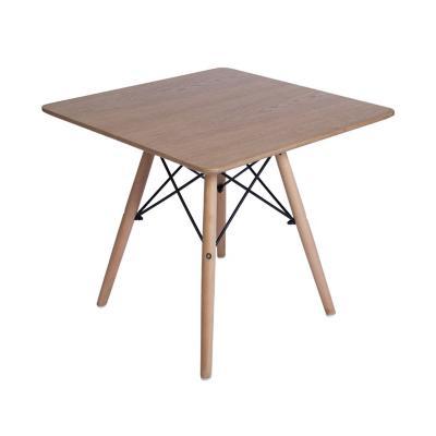 Mesa cuadrada 55x60x60 cm color madera